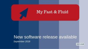 New software release available on MyFastFluid