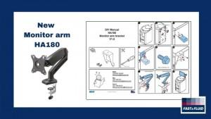 New accessory for HA180: Monitor Arm
